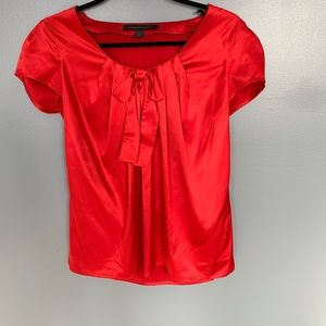 Express Front Tie Blouse Red Size XSmall